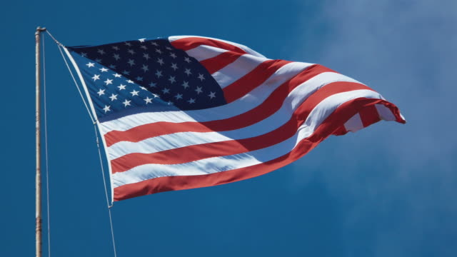 Two videos of USA flag in 4K video