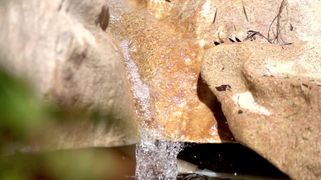 Two videos of waterfall in real slow motion video
