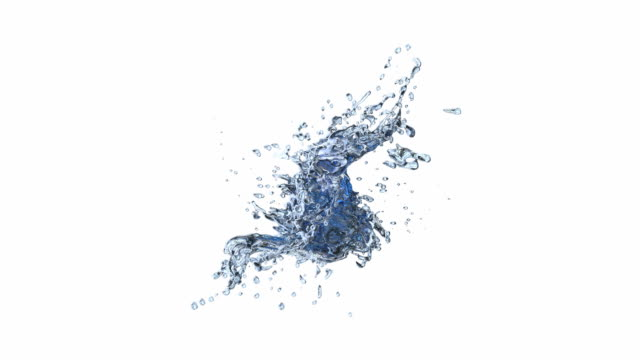 Two water drops collision video
