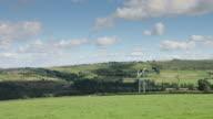 Two Wind Turbines in Rural Landscape video
