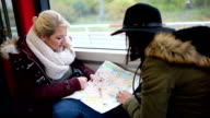 Two Women Checking the City Map video