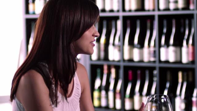 Two Women Drinking Wine video