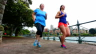 Two Women Running for Exercise By Sydney Harbour video