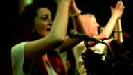 Two women singing. video