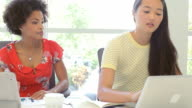 Two Women Working Together In Design Studio video
