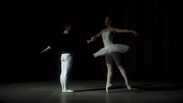 Two Young Ballet Dancers Practicing video