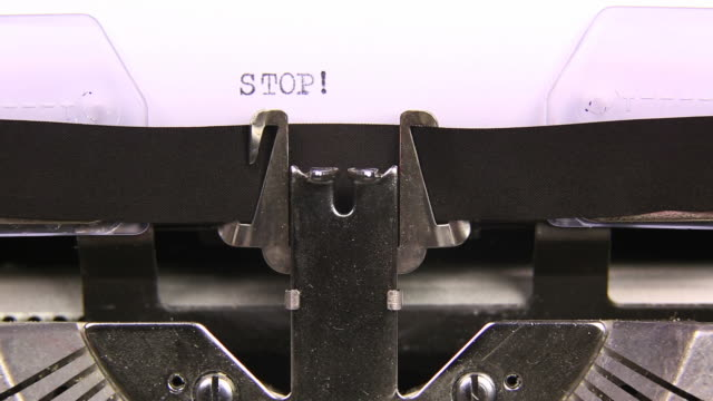 HD STOP TECH SPORTS typed  on an old typewriter video