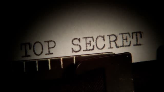 TOP SECRET! Typed. Typewriter. video