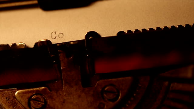 Typed using an old typewriter video