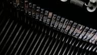 Typewriter keys macro video