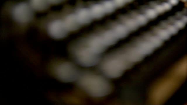 typewriter macro (HD 1080) video