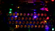 Typewriter, old, christmas lights video