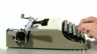 Typewriter working video