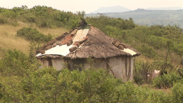 Typical african house, poverty - HD & PAL video