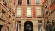 Typical house and urban scene in Paris, France video