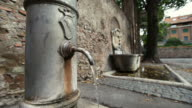 Typical Nasone Drinking Fountain in Rome video