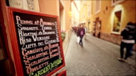 Typical Tourists Restaurant menu in the Street of Rome video