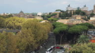 Typical wide cityscape of Rome video