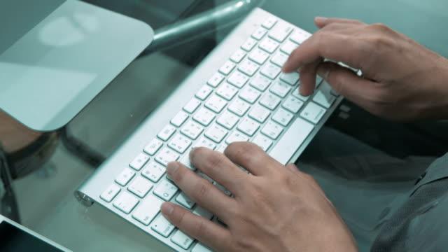 Typing keyboard video