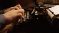 DS typing on an old typewriter video
