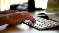 Typing On Keyboard video