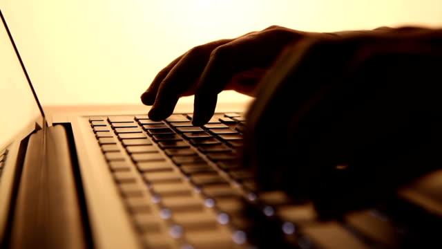 Typing On Laptop Keyboard video