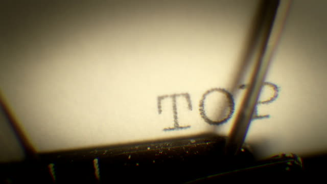 Typing the word - top secret. video