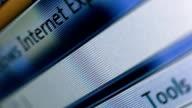 Typing web address in Internet browser. Macro. video