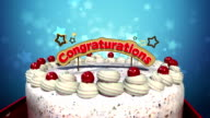 Typo 'Congratulations' on cake. video