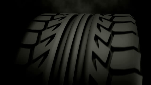 Tyre close-up loopable video