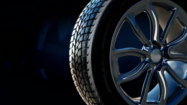 Tyre construction scheme background concept video