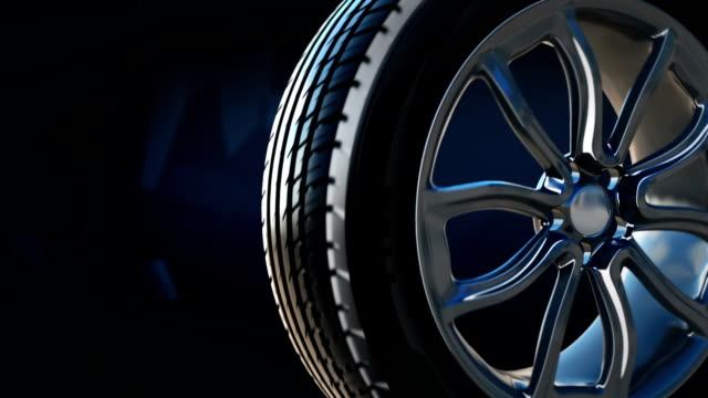 Tyre construction scheme concept with text video