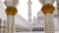 uae main hall of famous mosque 4k video