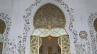 uae main mosque entrance 4k video