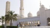 uae summer day famous mosque outside view 4k video