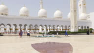 uae summer day light arabic main mosque front 4k video