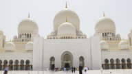 uae summer day light main arabic mosque entrance 4k video