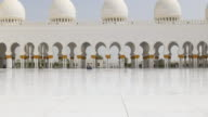 uae summer day light main mosque hall view 4k video