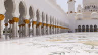 uae summer day light main mosque interior 4k video