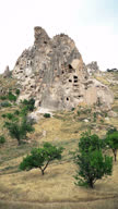 Uchisar castle and unique geological formations in Cappadocia video