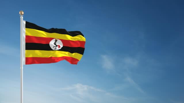 4K Uganda Flag - Loopable video