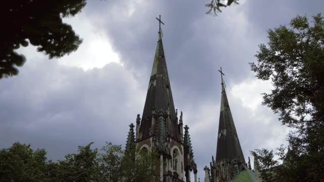 Ukraine, L'viv city  .Church Timelapse. May 28, 2014 video