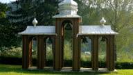 Ukrainian bell tower near the church video