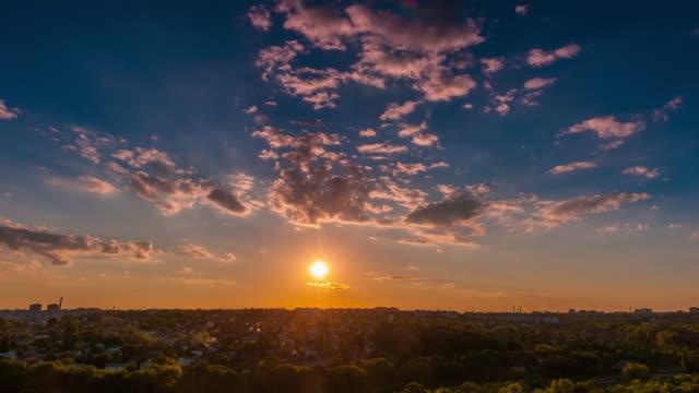 Ukrainian sunset video