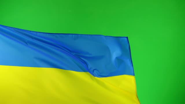4K: Ukranian Flag on green screen, Real video, not CGI (Ukraine) video
