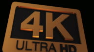 4K Ultra HD Logo video