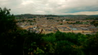Ultra wide panoramic shot showing the historic town of Bath, UK video