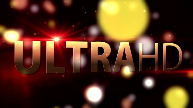 UltraHD Smart Tv screen animation video