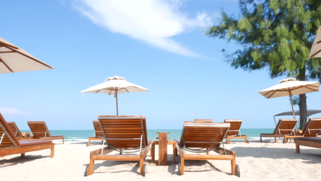 Umbrella beach chair video