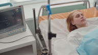 Unconscious Patient in Intensive Care Room video